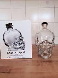 large 1 75 crystal head vodka skull liquor bottle bruni glass dan aykroyd empty 498957174
