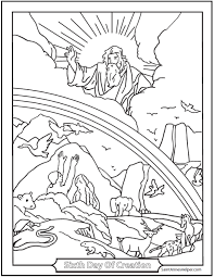 Adam And Eve Coloring Page Sixth Day Of Creation