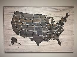 fancy idea united states wall art house interiors com wooden map wood vintage decor metal