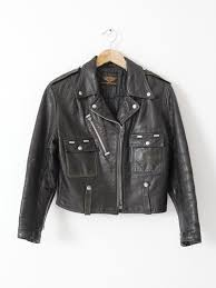 vintage harley davidson cycle champ leather jacket