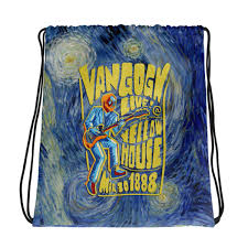 """""""<b>Van Gogh</b> Live!"""" <b>Drawstring Bag</b> – Breshnyda"""