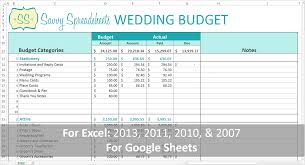 wedding budget template for excel branded wedding budgets savvy spreadsheets budget template excel