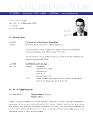 8 Curriculum Vitae Format For Job Application New Tech Timeline