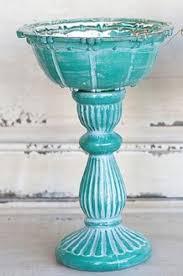 Turquoise Decorative Bowl Distressed Turquoise Mercury Glass Decorative Bowl on Pedestal 43