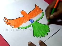How To Draw Independence Day Parrot Design Step By Step
