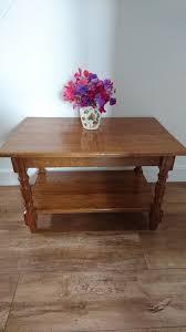 beautiful handcrafted handmade oak coffee table