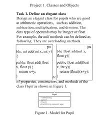 Solved Project 1 Classes And Objects Task 1 Define An E