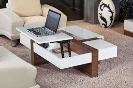 an overview of coffee table with storage