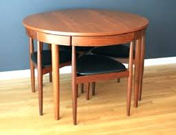 mid century modern round dining table with leaves hudsonyoga co decor 13