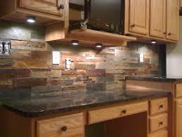 Rustic Kitchen Decoration Using Dark Grey Stone Kitchen
