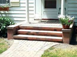 outdoor stairs wooden steps fab outside how to build single prefab deck redwood sta