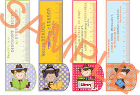 Printable Bookmarks Country Girlboy 3in1 Bookmark Ruler