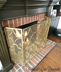 antique gold fireplace screen flat pea swag tassel gold fireplace screen antique