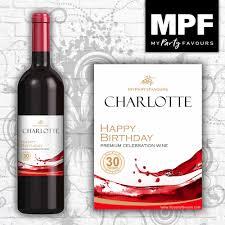 details about 9 personalised wine bottle labels birthday splash design mini 187ml size
