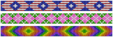 Bead Loom Patterns Best 48 Loom Strip Patterns Beadwork