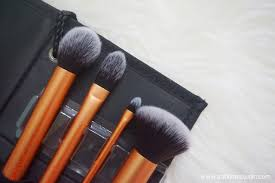 real technique core collection make up brushes review