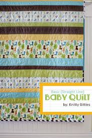 Basic Baby Quilt Tutorial & ... basic baby quilt using all straight lines. Save Adamdwight.com