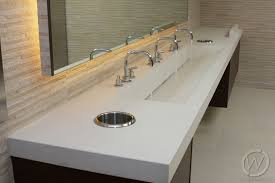 commercial bathroom sinks and counters awesome concrete restroom in california customcretewerks inc intended for 2