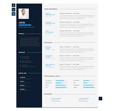 Professional Modern Resume Template For Word And Pages Resume Design