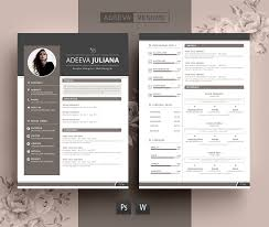 Resume Templates Modern Design Modern Resume Template Julianna Resume Templates Creative Market 19