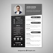 Graphic Resume Resume Vectors Photos And Psd Files Free Download