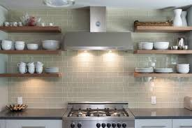 Kitchen Tiles Wall Designs Open Shelving On Glass Tile Kitchen Wall Just Decorate