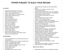 Resume Power Phrases POWER PHRASES TO BUILD YOUR RESUME Great for Business places to 2