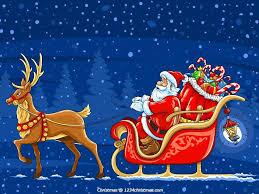 santa claus and reindeer flying. Santa Claus Reindeer Wallpaper Download Intended And Flying