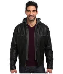 upc 885719413651 image for calvin klein faux leather er jacket w knit hood cm499139