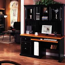 computer desk for home ideas with black wooden hutch computer desk with keyboard drawer and storage