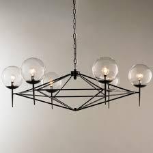 modern glass chandelier lighting. modern pyramid glass globes chandelier lighting