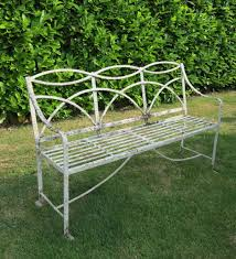 FlowerHouse Butterfly Patio BenchFHBFB06  The Home DepotOutdoor Wrought Iron Bench
