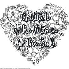 Gratitude Coloring Pages Image 0 Quotes Attitude Of Playanamehelp