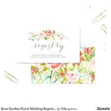 Wedding Registry Template Card Enclosure Baby Shower Gift