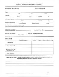 Blank Resume Forms To Fill Out Free Resume Templates
