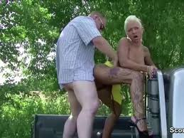 German prostitute outdoor handjob