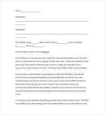 Rental Increase Letter Sample Rent Increase Letter Sample Awesome Late Notice Free Samples