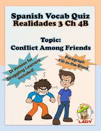 Spanish Vocab Quiz: Realidades 3 Chapter 4B | Spanish and Paragraph