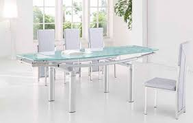 Expandable Glass Dining Room Tables Interior Awesome Decorating