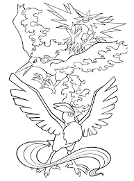 Legendary Pokemon Coloring Pages Birds Coloringstar