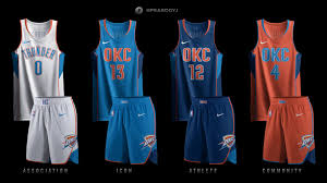 Okc New Jersey Design Oklahoma City Thunder Uniform Concepts Okc Tracker Medium