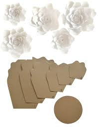 Paper Flower Kit Paper Flower Template Kit Make Your Own Paper Flowers Paper Flowers Decoration Make Unlimited Flowers Diy Do It Yourself Make All Sizes