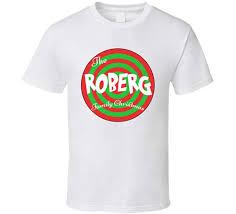 Robergs Chart The Roberg Family Christmas Last Name T Shirt Amazon Com