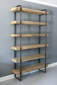 wooden bookcase furniture storage shelves shelving unit. Wood Shelving Units For Storage Reclaimed Bookcase Unit  Industrial . Wooden Furniture Shelves B