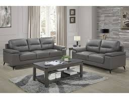 leather sofa living room grey leather