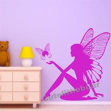 fairy erfly fantasy wall sticker artistic design wall decal girls room nursery decor e co friendly vinyl wallpaper