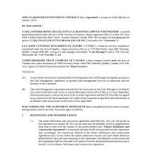 Investor Contract Sample Agreement Template 9 Investment Templates