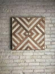 diamond wood wall decor reclaimed wood wall art decor lath triangle diamond geometric best collection