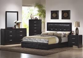 Queen Size Bedroom Furniture Sets On Coaster 201401q Black Queen Size Leather Bed Steal A Sofa