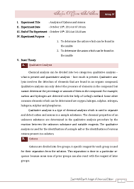 Pdf Experiment Report Analysis Of Anions And Cations